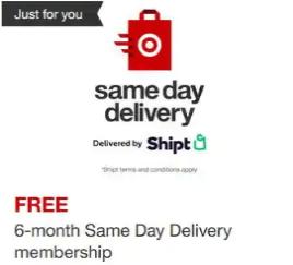 Target Circle free shipt