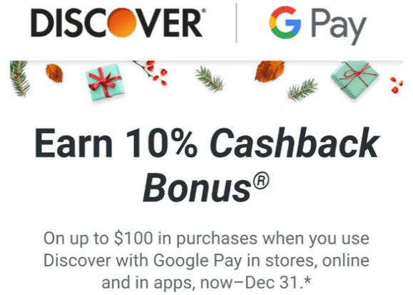 Discover Google/Samsung Pay offer