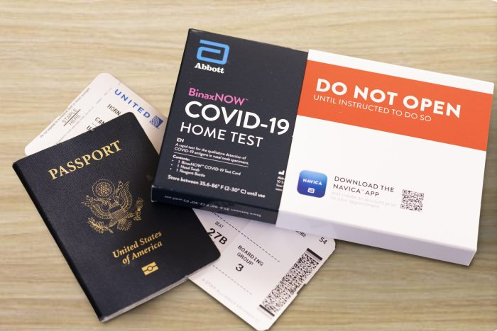United Airlines and Abbott Home-Testing Kits