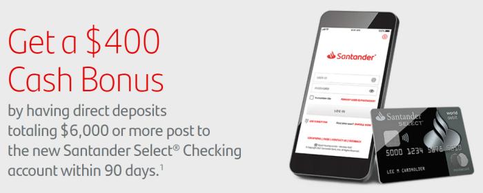 Santander Bank $400 Bonus