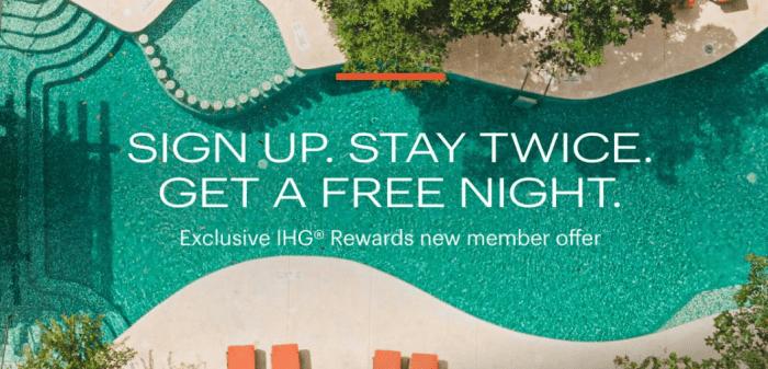 Sign Up bonus IHG Rewards