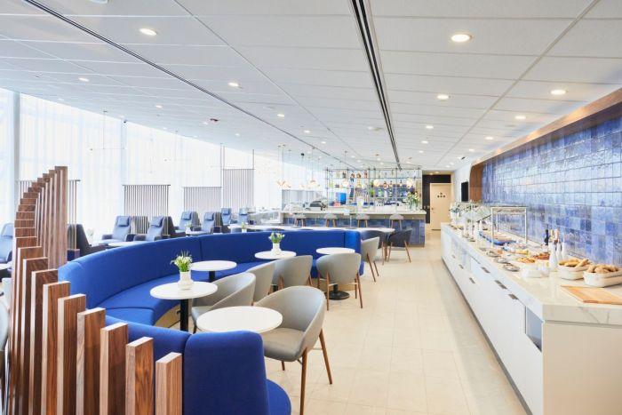 Air France Lounge Montreal dining