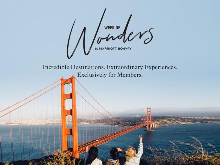 Marriott Week of Wonders Offers