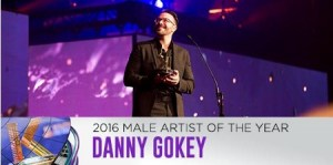 Danny Gokey awarded K-LOVE Male Artist of the Year 2016