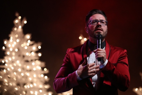 Danny Gokey performs at Zorn Arena Celebrate Christmas Tour