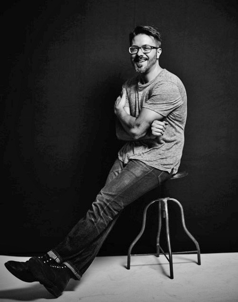 Danny Gokey in bw studio photo