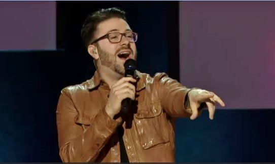 Danny Gokey performing at Saddleback Church