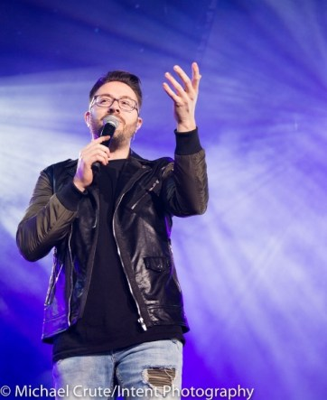 Danny Gokey in song at Georgia Dome