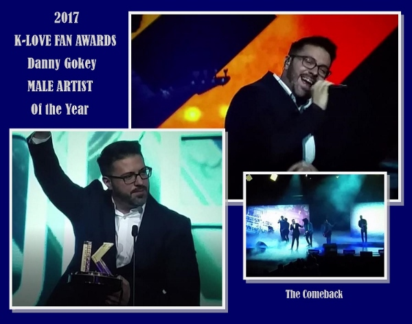 Collage of Danny Gokey at the 2017 K-LOVE Fan Awards