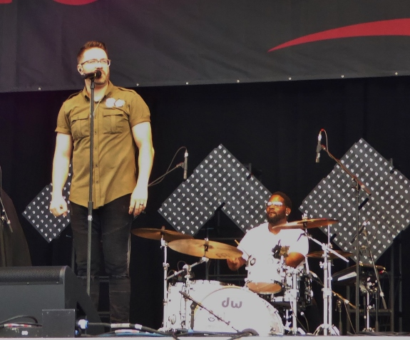 Danny Gokey and Bernard Bell at Summerfest 2017
