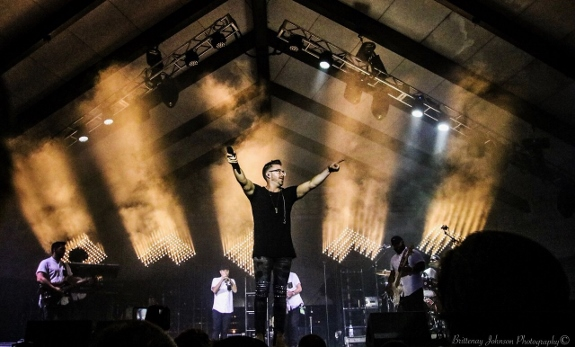 Brittenay Johnson photo of Danny Gokey at River Rock Festival