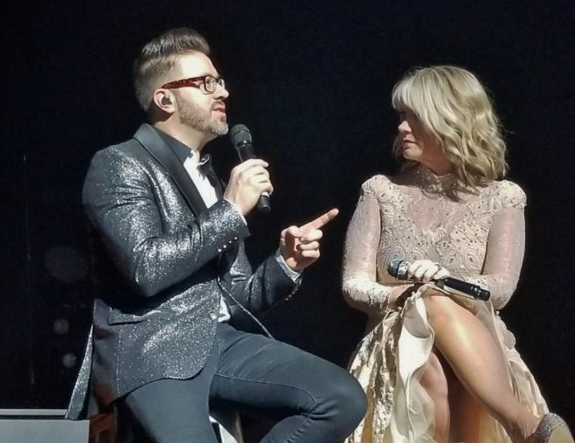 Danny Gokey talks to Natalie Grant on tour
