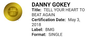 RIAA certification of Tell Your Heart to Beat Again