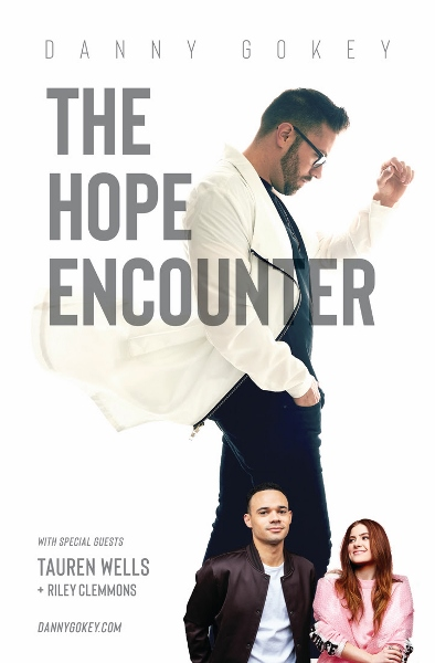 Full poster for Danny Gokey Hope Encounter tour