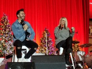 Danny Gokey and Natalie Grant share a laugh - DGNews