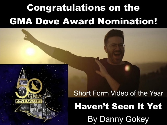 Danny Gokey receives 2019 GMA Dove Award Nomination
