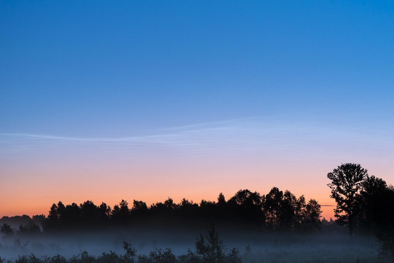 Lichtende nachtwolken, NLC clouds, Noctilucent clouds