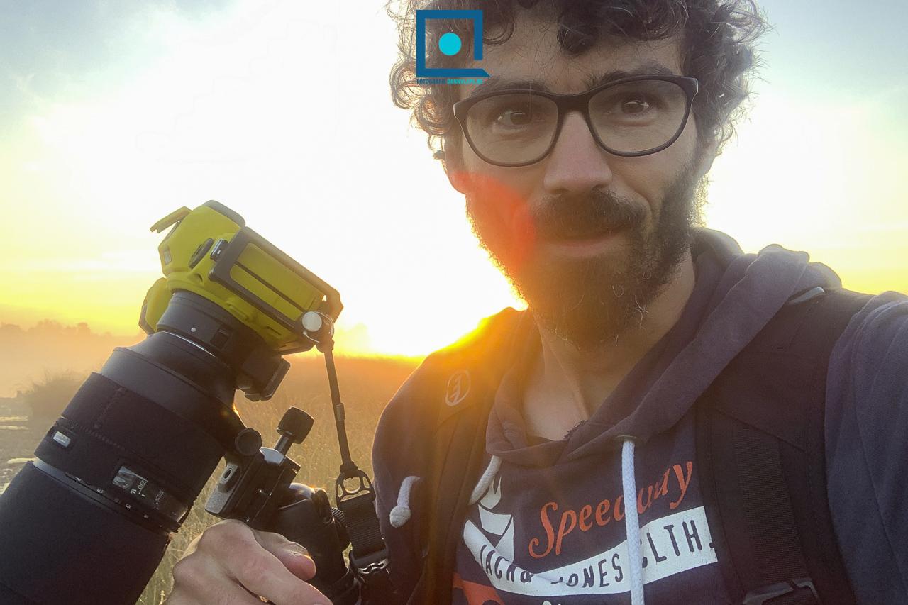 Danny Laps op de Kalmthoutse Heide (met gele Nikon Z6)