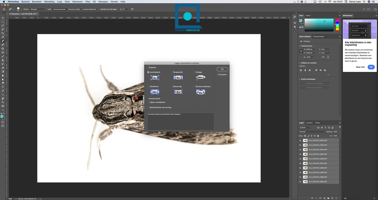 Focus staking - Lightroom - Photoshop