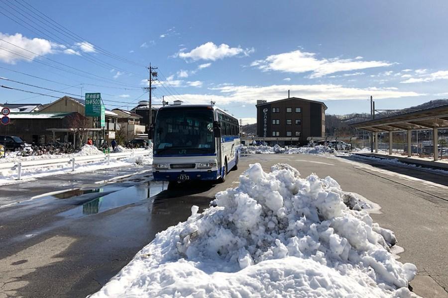 下過雪後的輕井澤