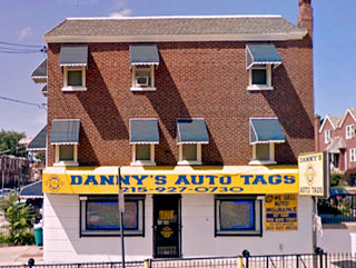 DANNY'S AUTO TAGS SPARKS ST. 19120