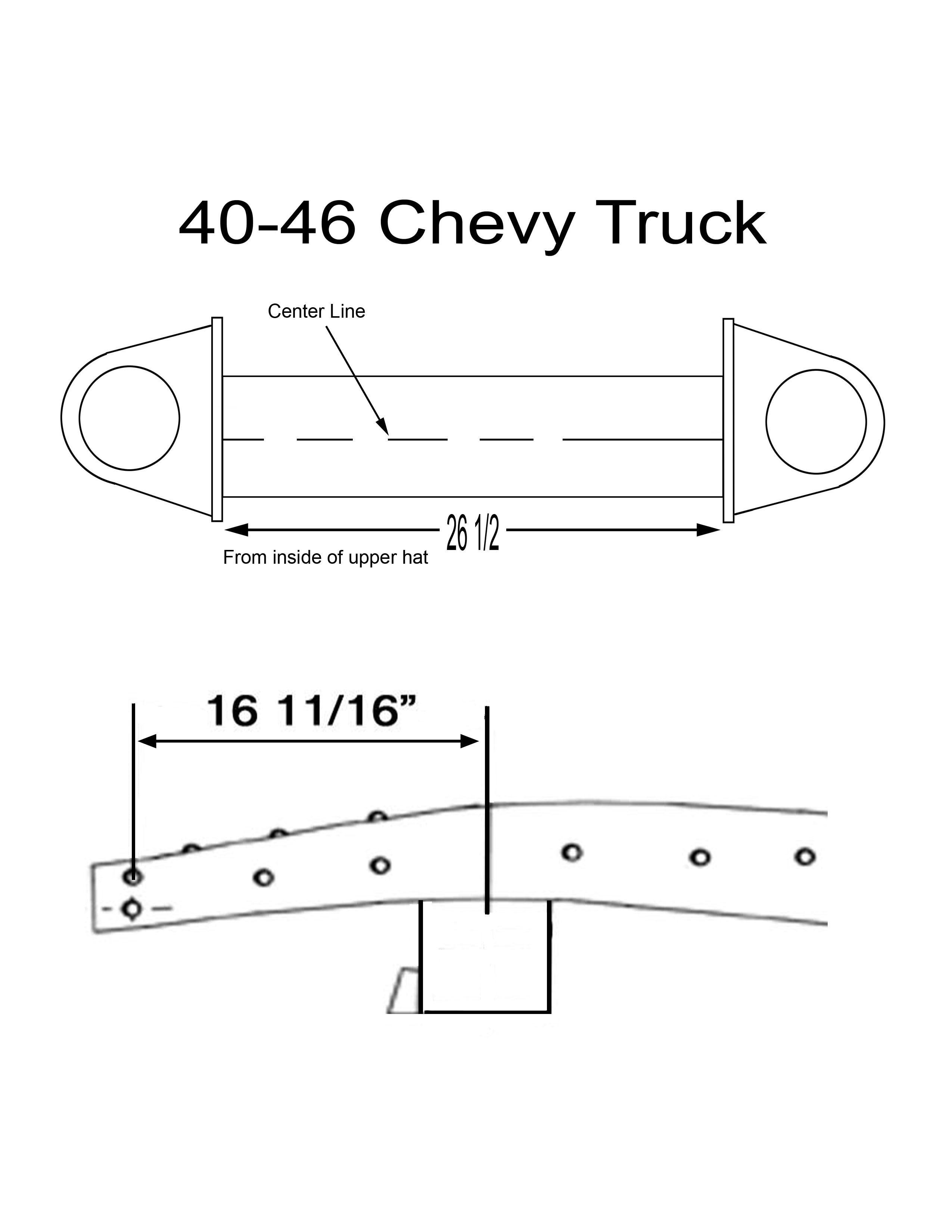 40 46 Chevy Truck Installation Pic