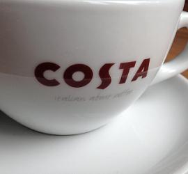 Coffee shop karma - Costa Coffee cup