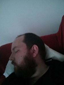 Shattered – Bearded Man asleep