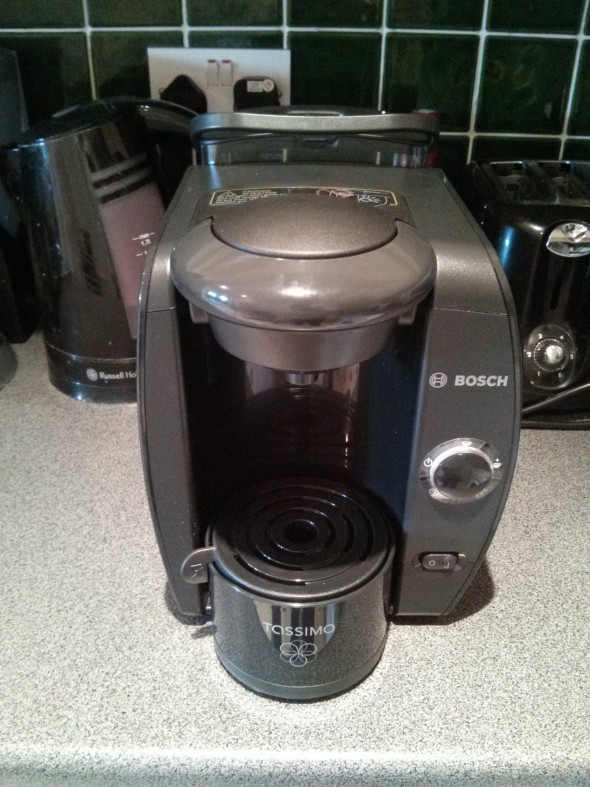 The Bosch Tassimo Machine - Front view
