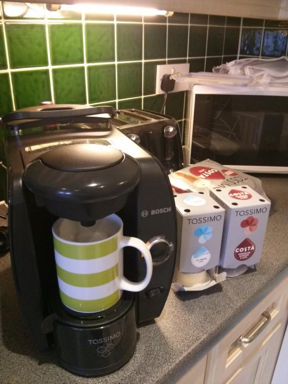 Costa Coffee Tassimo machine and pods