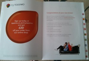 Tassimo booklet