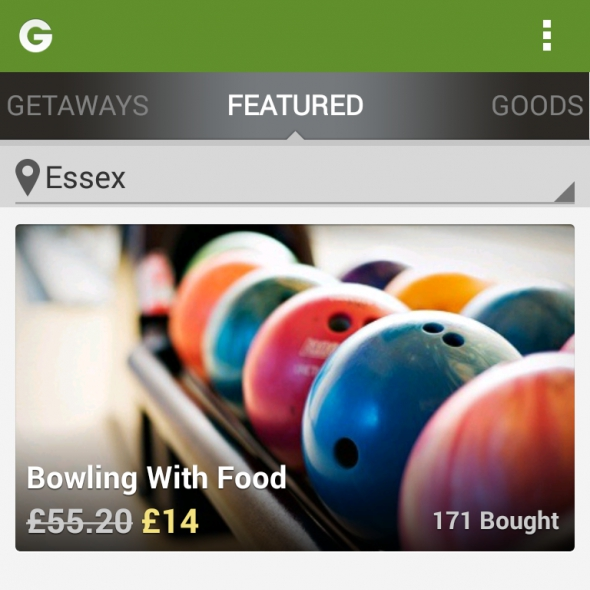 Bowling with food - Groupon Bowling