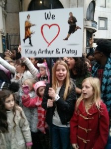 We love King Arthur and Patsy