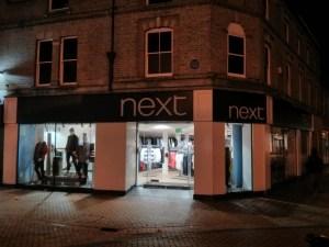 Chelmsford at night – Next