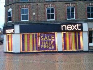 Next Chelmsford store front – Boxing Day 2013