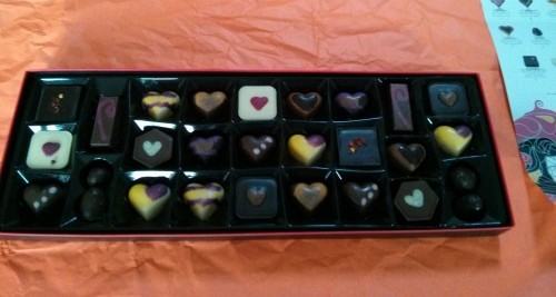 Hotel Chocolat review - A selection of the chocolates in the box.