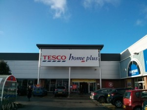 Tesco home plus sign and signage – Croft Business Park, Welton Rd, Bromborough, Wirral, Cheshire – Taken by DannyUK for DannyUK.com