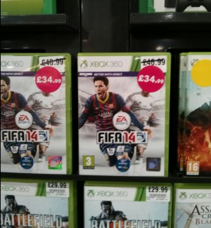 FIFA 14 - New, rather than pre-owned and buying second hand. Taken from an article by DannyUK.com