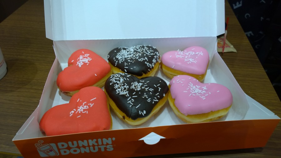 Dunkin Donuts Chelmsford - Valentine Day Donuts - taken from an article by DannyUK.com