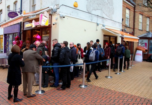 Dunkin' Donuts Chelmsford opens for business - Taken from an article by DannyUK.com - Photo courtesy of Jesper Mattias Photography