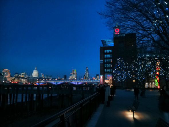 London's South Bank at dusk. Taken from an article Up The Oxo Tower by DannyUK.com