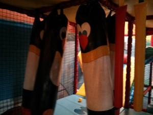 The penguin punch bags at Kool Kids, Riverside Ice and Leisure. Taken from a review by DannyUK.com