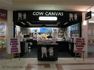 Cow Canvas shop - The Meadows Chelmsford.  Now another part of the Chelmsford banks and financial shops.  Taken from an article by DannyUK.com