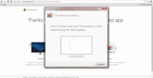 Google Chromecast set up – The wifi step