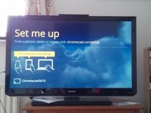 Google Chromecast set up – tv