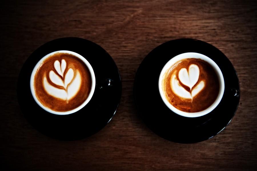 London Coffee Festival two coffees