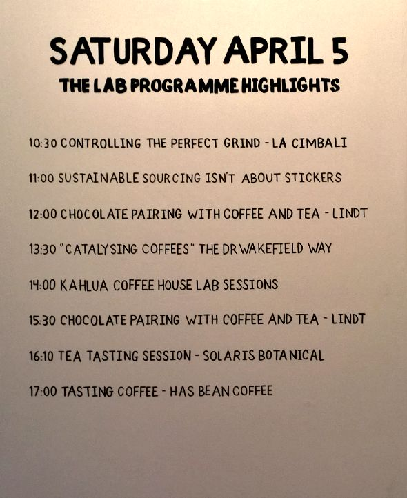 London Coffee Festival 2014 - The Lab April 5th