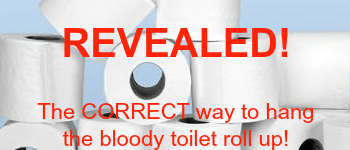 Which way should the toilet roll hang?