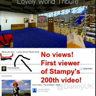 First view on StampyLongHead YouTube video - Taken from a week with the kids by DannyUK.com