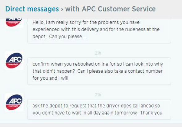 APC Overnight DM exchange